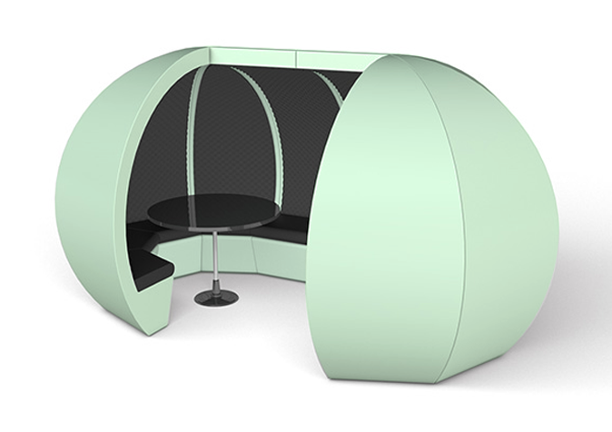 Custom Mint Modular Meeting Pod