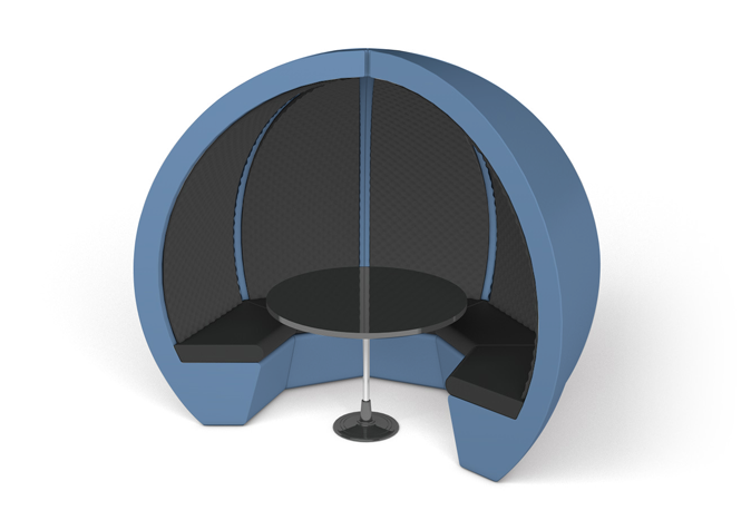 Custom Navy Escape Meeting Pod