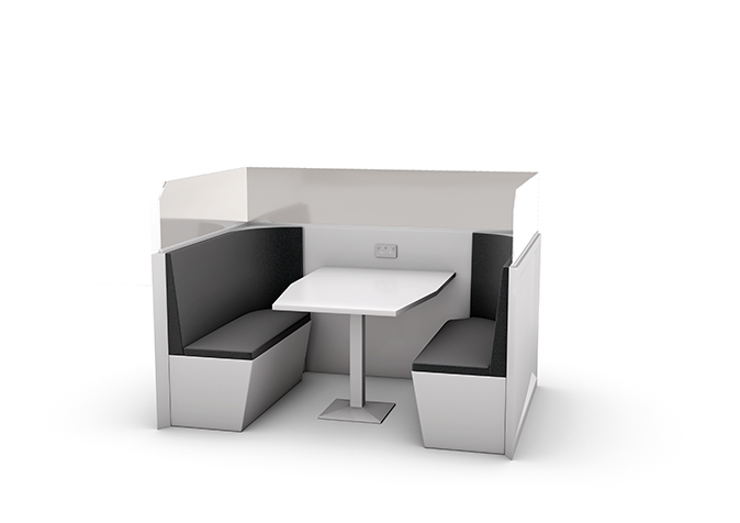 Meeting Booth with privacy glass